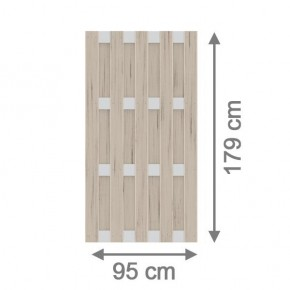 TraumGarten Sichtschutzzaun Jumbo WPC Alu-Design Rechteck sand - 95 x 179 cm