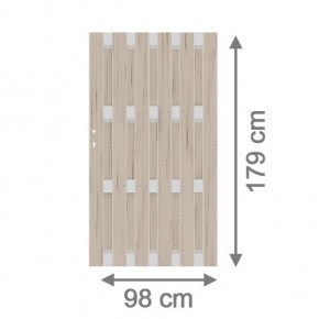 TraumGarten Sichtschutzzaun Jumbo WPC Alu Design Tor sand - 98 x 179 cm