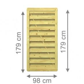 TraumGarten Sichtschutzzaun XL Tor gerade kdi - 98 x 179 cm