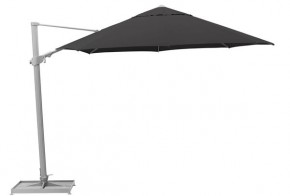Kettler Sonnenschirm - Ampelschirm Easy Swing Ø 350 cm, silber-anthrazit ohne Schirmständer