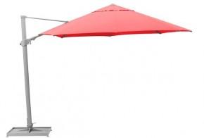 Kettler Sonnenschirm - Ampelschirm Easy Swing Ø 350 cm, silber-rot ohne Schirmständer