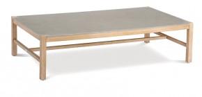 Best Loungetisch Madagaskar rechteckig - 140x80x36 cm - Eukaltyptus/Betonplatte