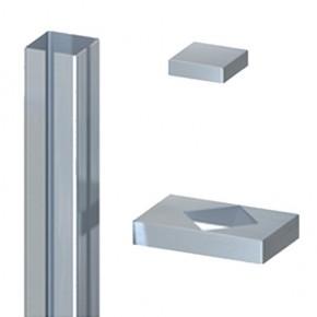 TraumGarten Ummantelungsset für System-Eckpfosten - 8 x 8 x 195 cm