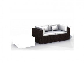 Balkonmöbel 2-teilig Rattan Lounge Rattansofa