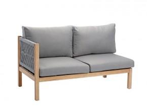Best Loungeseitenteil links 2-Sitzer Madagaskar inkl. Auflagen - Eukaltyptus/Gurt