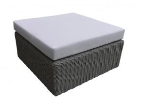Rattan Loungeelement Turino Hocker/Tisch- Farbe: dunkelgrau/grau
