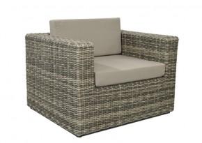 Rattan Loungeelement Turino Sessel - Farbe: grau-braun meliert