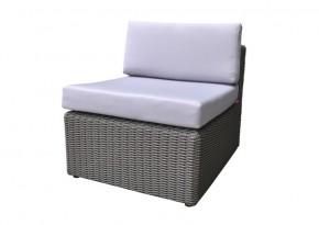 Rattan Loungeelement Turino Mittelsofa - Farbe: dunkelgrau/grau