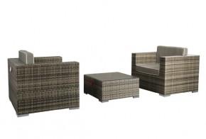 Rattan XXL Loungemöbel Set Espace 2 - 2-teilig - Farbe: grau braun meliert