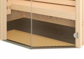 Tür ohne Schwelle, Barrierefrei - Maße: 1844 x 625 x 8 mm, klar - Infraworld Saunatür