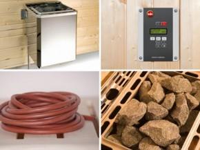 WEKA Ofenset 4 - 4,5 kW (230 Volt) inkl. Kabel, Steuerung, Steine - Klassisch