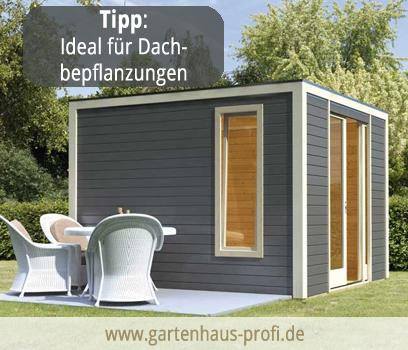 Gartenhaus mit Flachdach aus Holz - jetzt günstig kaufen